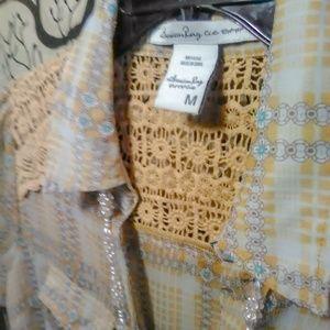 American Rag * Front Tie w/ Crochet Back